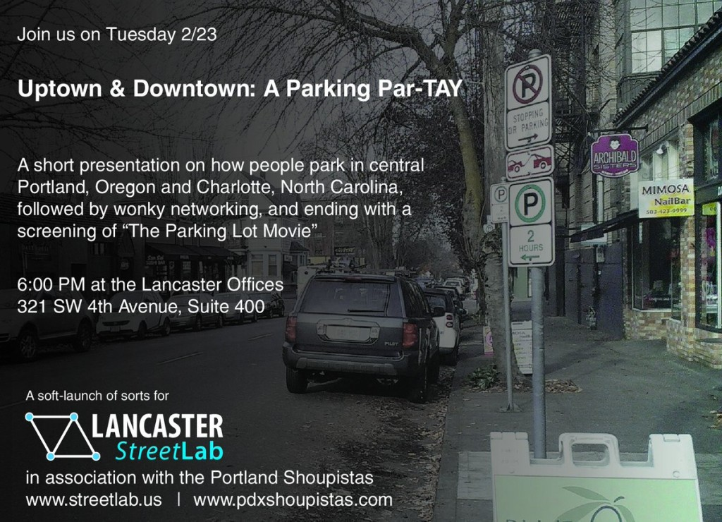 Uptown & Downtown: A Parking Par-TAY – 2/23 at 6PM